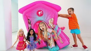 Diana organizó una fiesta Barbie