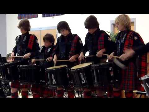 Dunedin Highland Middle School - 2012 Scottish Drummers solo