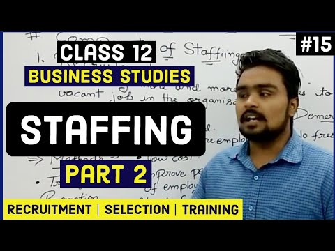 Class 12 business studies (recruitment, selection and training) mind your own business video 15