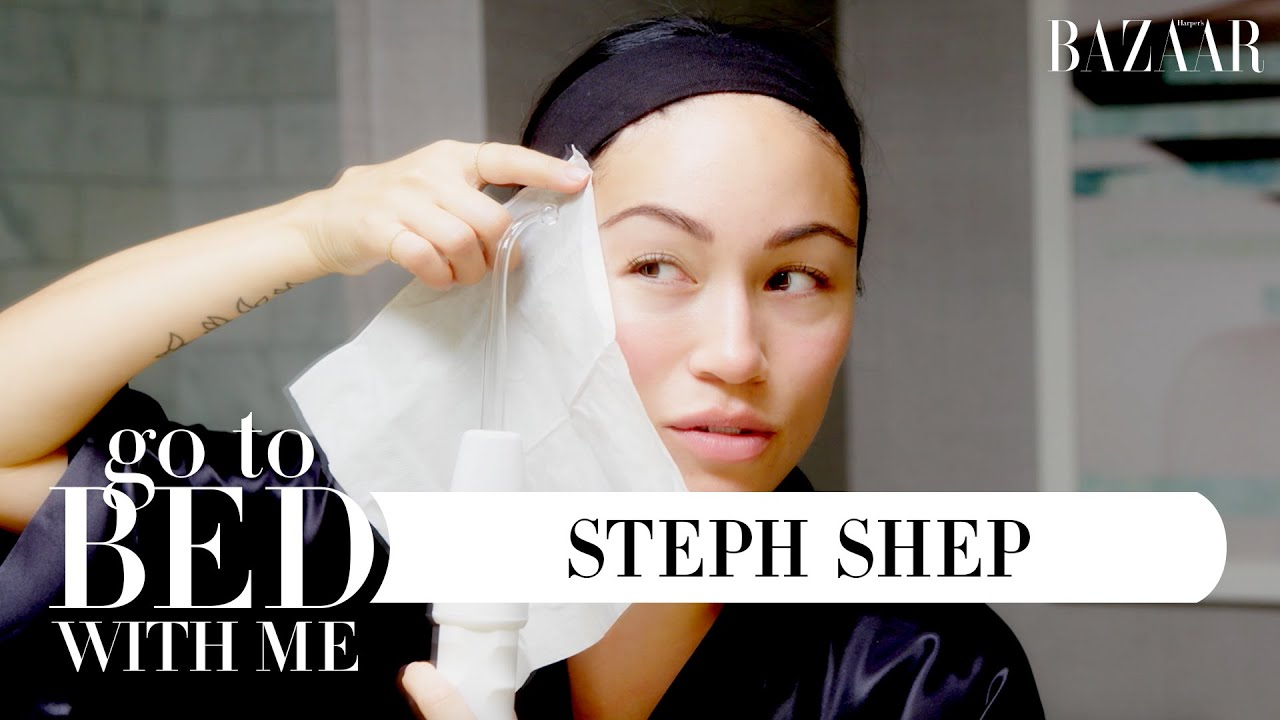 Stephanie Shepherd's Nighttime Skincare Routine | Go To Bed With Me | Harper's BAZAAR