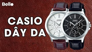 Unbox Casio nam dây da MTP-V300L - Casio Leather for men!