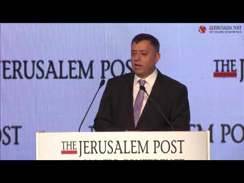Labor party Chairman Avi Gabbay at the Jersualem Post's 2017 Diplomatic Conference