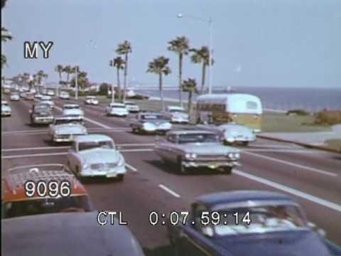 1950s Bad Boys in Long Beach Stock Footage HD
