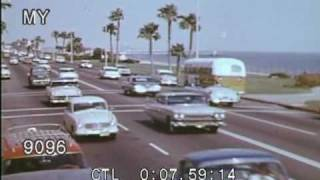 1950s Bad Boys in Long Beach Stock Footage HD