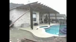 Backyard Pool - Pergola Construction