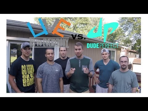 US vs DUDE PERFECT!! (Real Life Trick Shot Spoof) I Us vs EVERYBODY