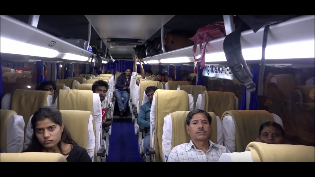 Volvo luxury bus interior - Enchanting Exteriors Interiors Of Multi Axle Scania Bus Of National Travels Called Mumtaz Mahal Youtube