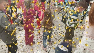 Paper party Дискотека Серебряная вечеринка Бумажное шоу Конфетти на 1 апреля
