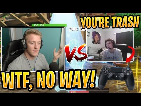 Tfue LOST vs Trash Talking CONSOLE Player in a Build Battle! - Fortnite Funny Moments