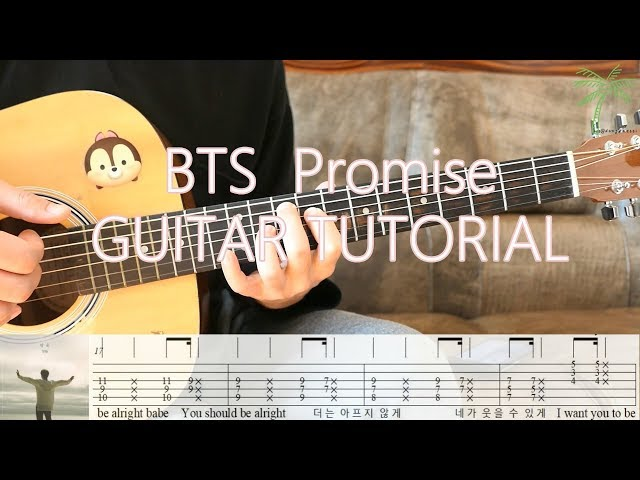 Guitar Tutorial BTS JIMIN (지민) - Promise (약속) 기타