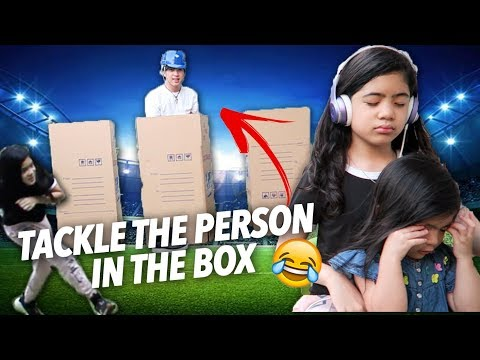 Tackle The Person In The Box Challenge | Ranz and Niana