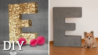 DIY: Riesige Deko-Buchstaben selber machen | Deko Kitchen