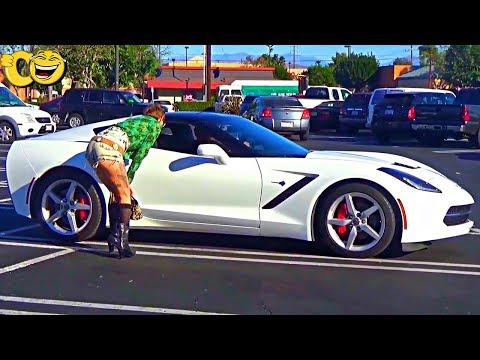 See what She did when She saw he has a Chevrolet Corvette!