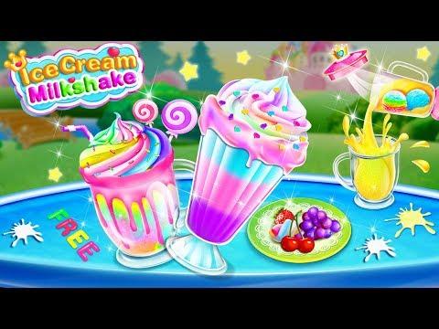 Ice Cream Milkshake Maker-Ice Dessert Sweet Games