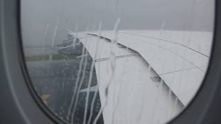 A380 Breathtaking Landing During Heavy Storm HD thumbnail
