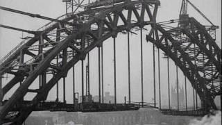 The Building Of The New Tyne Bridge (1928)