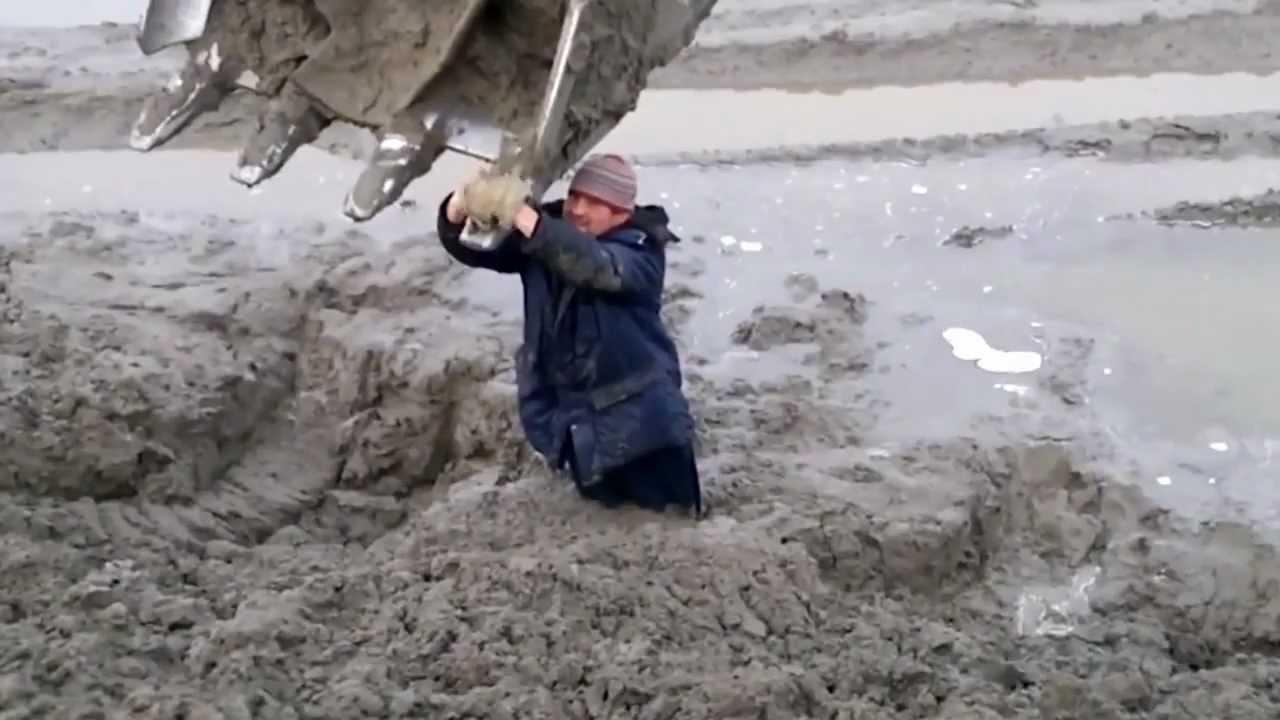 Man Stuck in Mud - YouTube