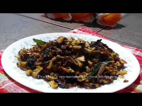 Pavakka mezhukkupuratti/Bitter gourd stir fry (Kerala Style)