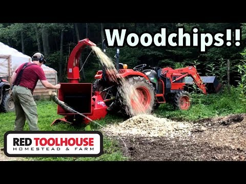 Our New 6 Inch PTO Wood Chipper Is Awesome!