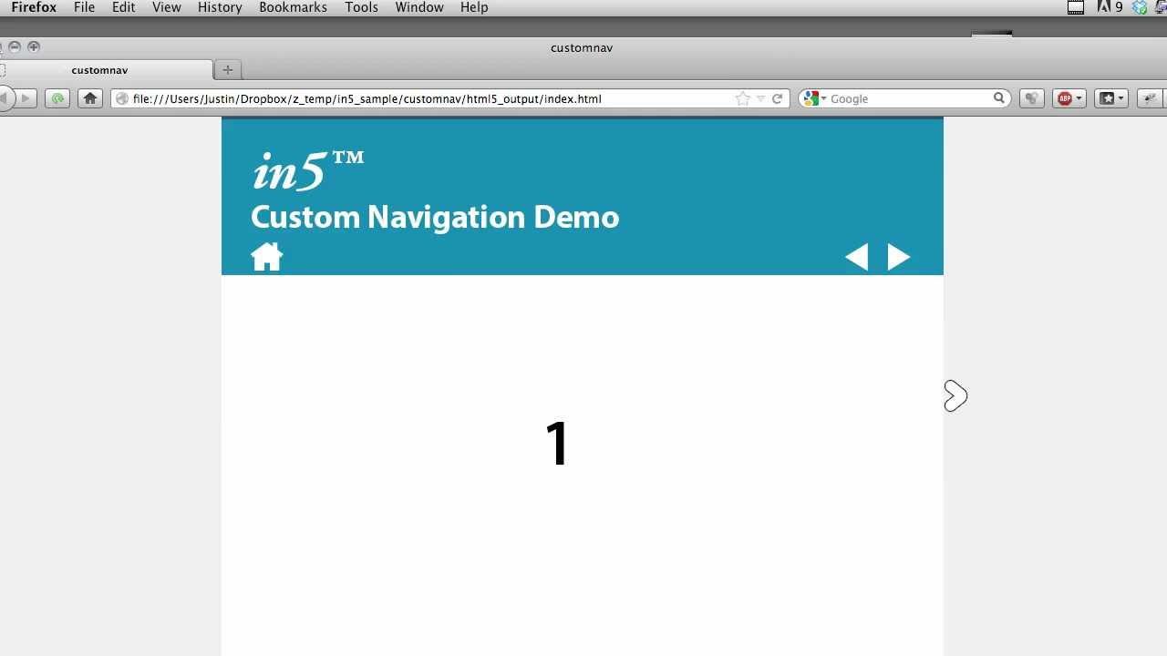 in5 Demo: Custom Navigation Controls
