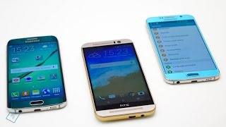 ▶ HTC One M9 vs. Galaxy S6 Edge vs. Galaxy S6 - Vergleich