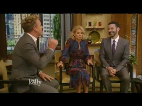 Gordon Ramsay interview Live! With Kelly co host Jimmy Kimmel 05/16/16