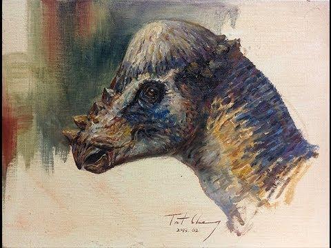 How to Paint Pachycephalosaurus Head - YouTube Pachycephalosaurus Head