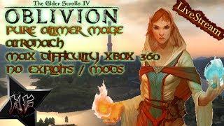 The Elder Scrolls IV: Oblivion Pt 4 | Max Diff. - Altmer / Atronach / No Exploits | XBox 360
