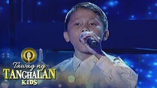 Tawag ng Tanghalan Kids: Joemar Lazarraga | Sa Mata Makikita