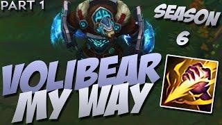 Volibear (Silver League Hyper Jungle DPS Tank Carry) - Season 6 - League of Legends