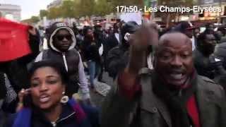 Les opposants congolais au référendum envahissent les Champs-Elysées