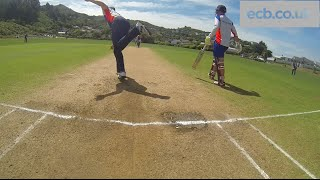 vuclip Chris Woakes, Steven Finn & Joe Root bowling in the middle - GoPro footage
