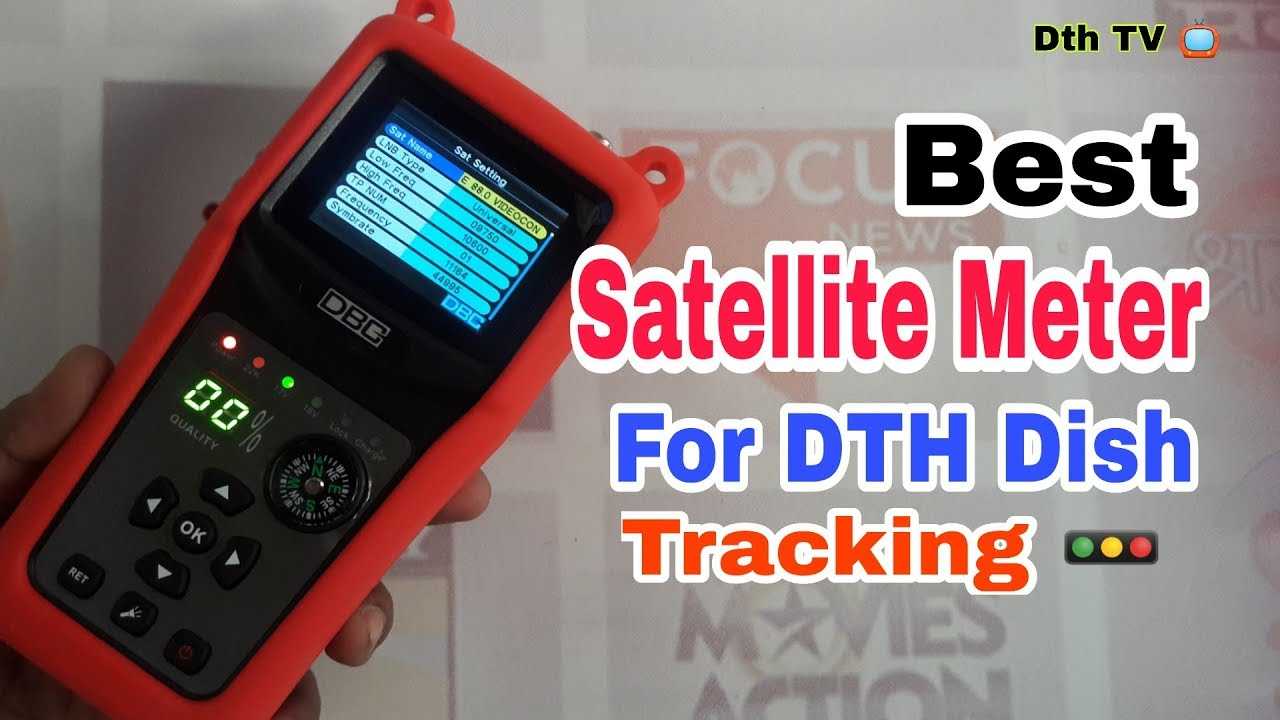 DBC111 Digital Satellite Finder Meter with Compass and LCD Display