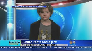 Trending: Pint Sized Weather Forecaster