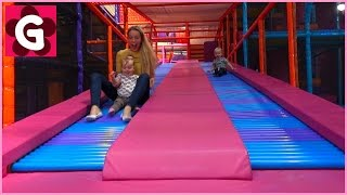 Gaby and Alex Playing and having Fun at Indoor Playground