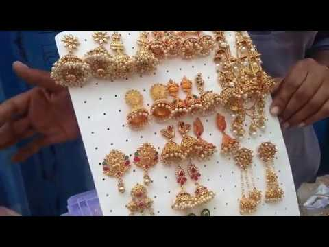 Parrys corner / imitation jewells / earings and Bangles / Dewali shopping