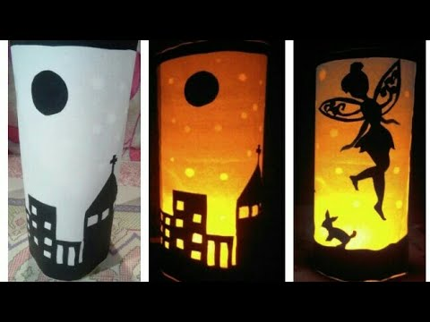 How to make attractive and simple DIY Halloween paper lamp |lantern  home decoration for Christmas
