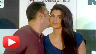 Salman Khan KISSES Jacqueline Fernandez! | KICK Game Launch