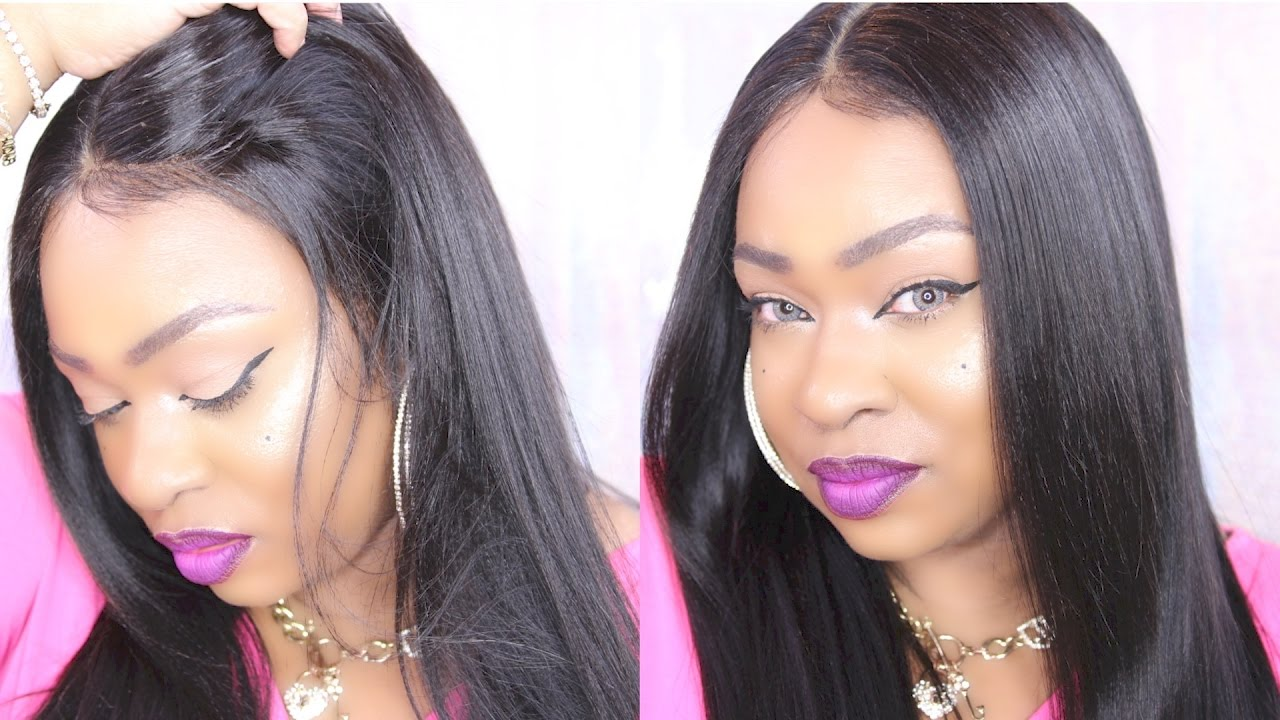 How To Style Affordable Virgin Brazilian 360 Lace Wigs Omgqueen Com Youtube