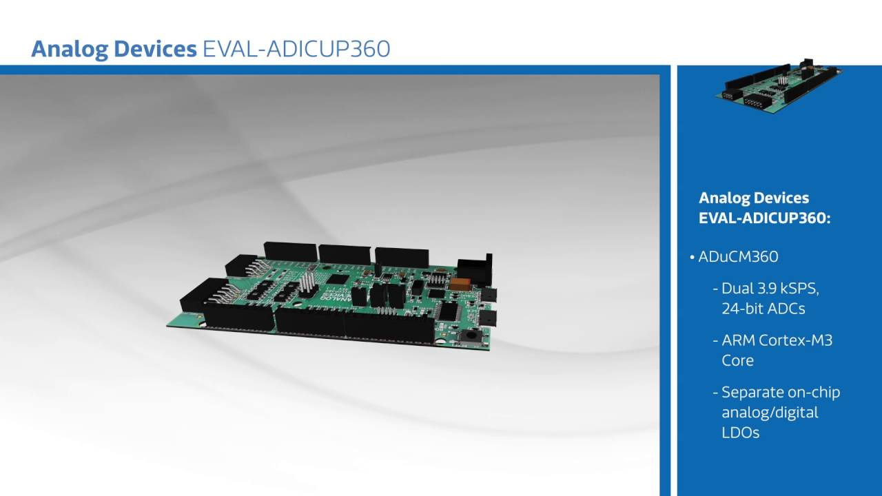 New at mouser analog devices inc eval adicup dev