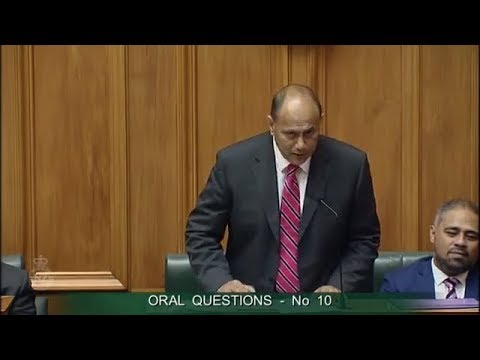 Question 10 - Hon Paul Goldsmith to the Minister of Employment