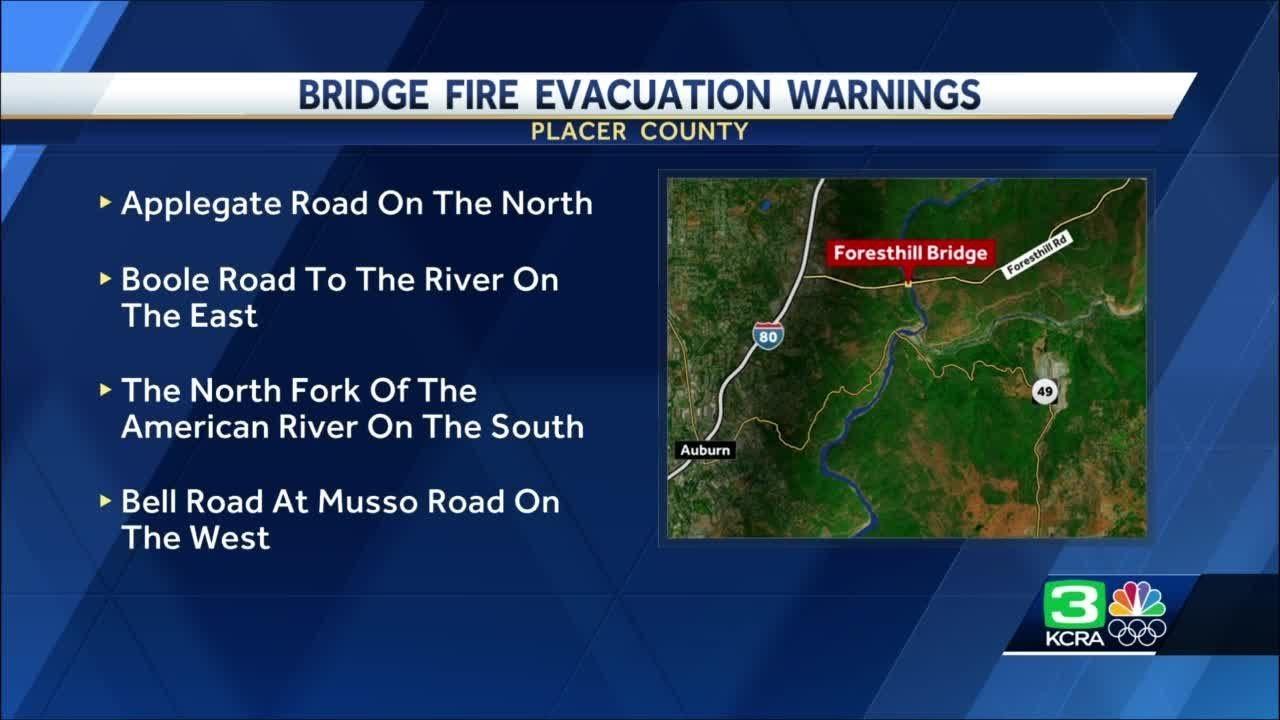 Bridge Fire Near Auburn Grows To 300 Acres