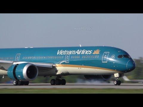 Boeing 787-9 Vietnam Airlines DME 2018 Домодедово B787-9 B789 Domodedovo