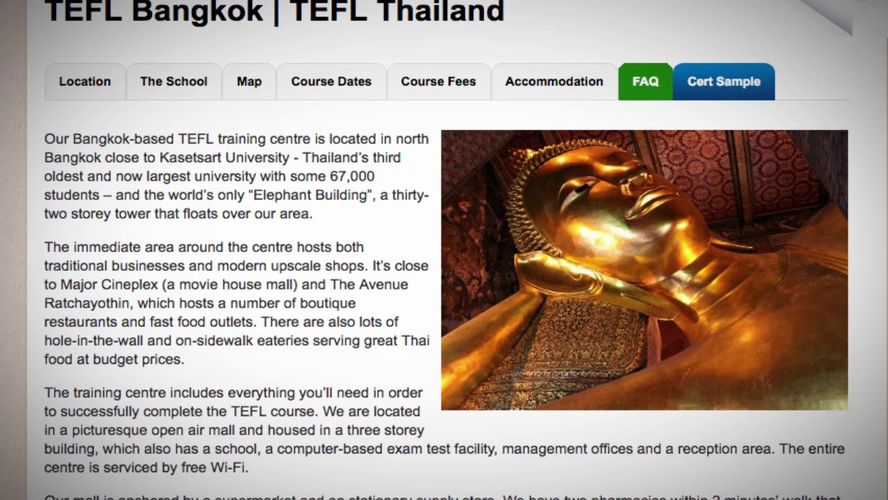 TEFL Bangkok | TEFL Thailand ▷ ITTT course