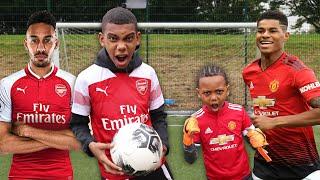 AUBAMEYANG VS Marcus Rashford | Premier League Football Challenge