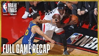 WARRIORS vs RAPTORS | Toronto Grabs Franchise First Finals Win! | NBA Finals Game 1