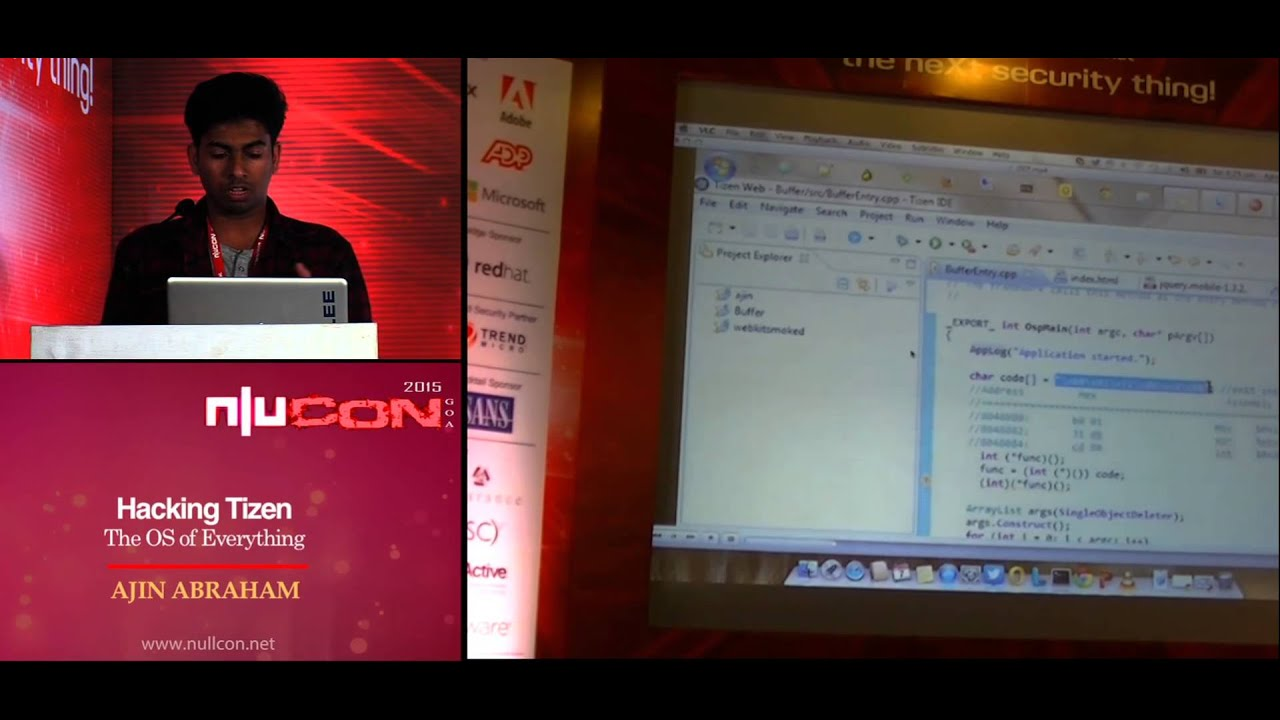 nullcon Goa 2015: Hacking Tizen The OS of Everything by Ajin Abraham
