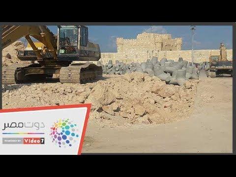 اليوم السابع :شاهد.. أضخم مشروع لحماية قلعة قايتباى من التآكل