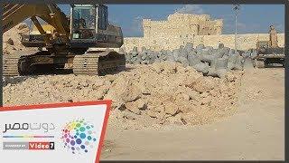 شاهد.. أضخم مشروع لحماية قلعة قايتباى من التآكل