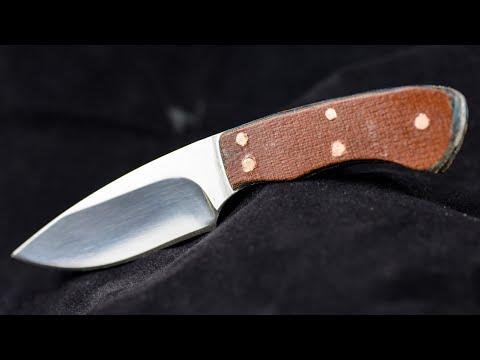 Custom knife handle out of burlap micarta